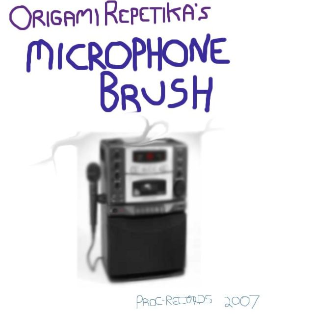 microphone brush single art