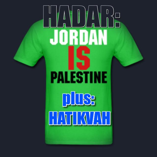 HADAR - Jordan IS Palestine