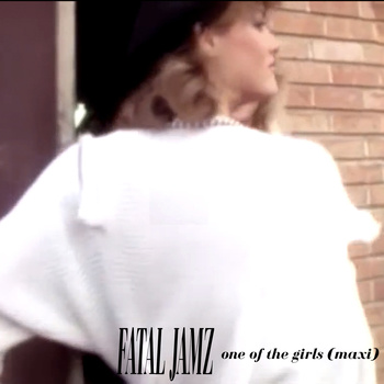 "It's a girl! The artwork for Fatal Jamz' One Of The Girls Maxi 7"". So hot!"