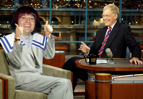 Harry Merry has a chat with David Letterman