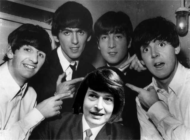 Harry Merry having fun with the Beatles