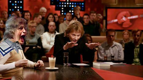 Harry Merry as a guest on a popular dutch talk show