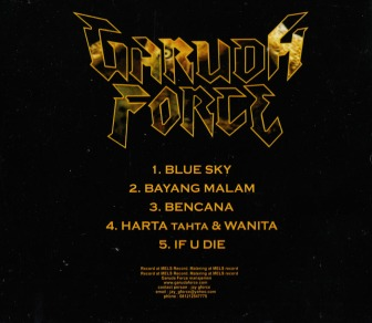 the flipside of the 'Blue Sky EP' with all the song titles featured on the release