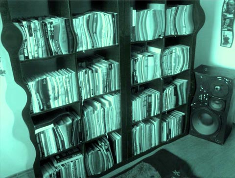 a room full of books? on planet Totallia? and a gignatic speaker?