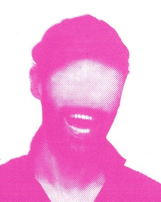 ^ the eyeless but teeth showing pink shapes of Electrosexual