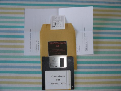 Cryovolcano - 008 released on floppy diskette by Diskette Etikette Records