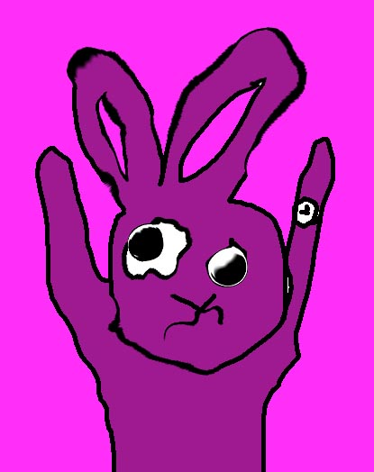 I'm already too late!' The rabbit said in a exciting rushed way.