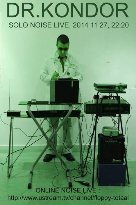 ^ Dr Kondor setting up his gear