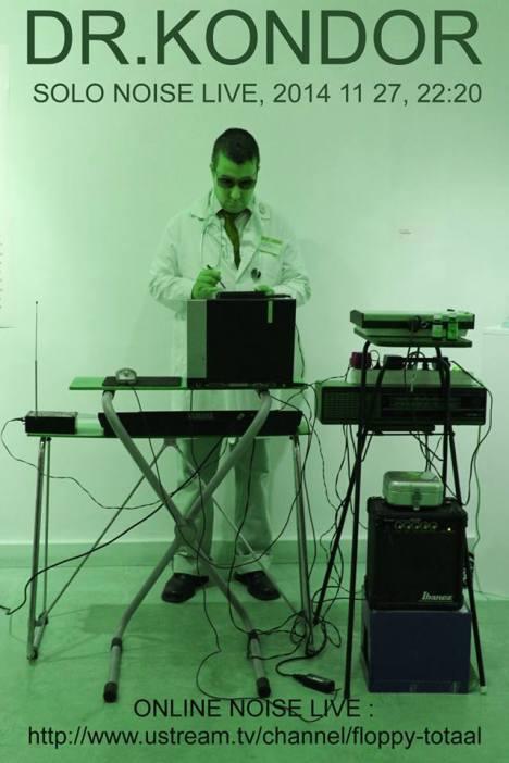 ^ Dr Kondor setting up his gear