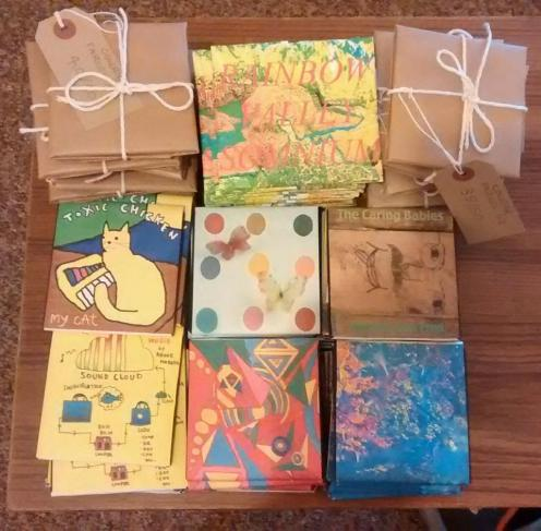 ^ beautiful floppy releases were awaiting us.. these are all wonderful releases from wrieuw recordings