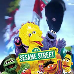 ^ Mimi and a selective part of the inhabitants of Sesame Street