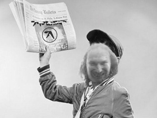 ^ a newspaper boy s[readomg tje mews of a upcomming brand new Aphex Twin album