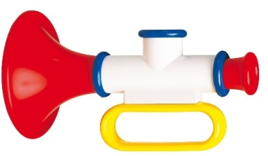 ^ a plastic trumpet is great for the rainy day-gigs