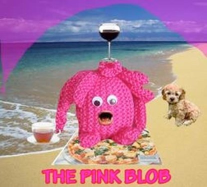 ^ the pink blob on the beach with his best friend