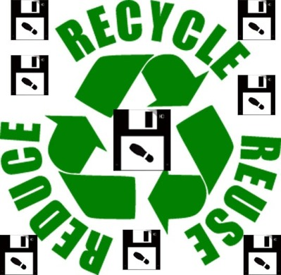 recycle floppies!