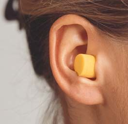 the effect of listening while wearing earplugs without wearing earplugs can be experienced throughout this release...
