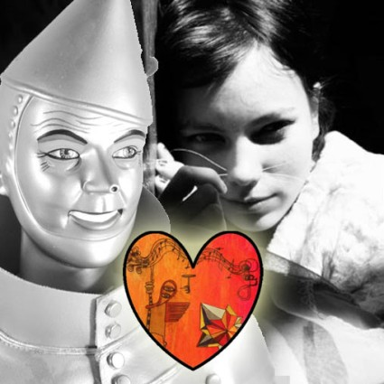 ^ a happy Tin Man (on the left) with the surrogate heart provider Bloom (on the right)