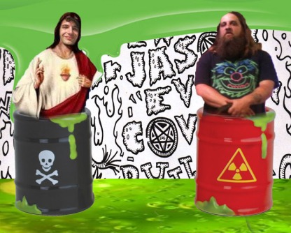 Oh yes ladies and gentlemen! KN (on the left) hanging out with  Jason EVIL Covelli (on the right) in toxic waste