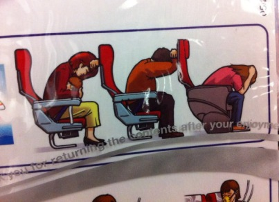 ^ depressed flight passengers