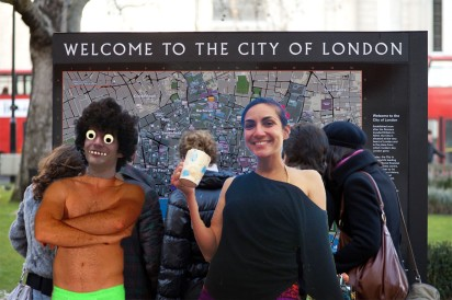 KN (on the left) and Djanan Turan (on the right) are ready to take you for a tour through London