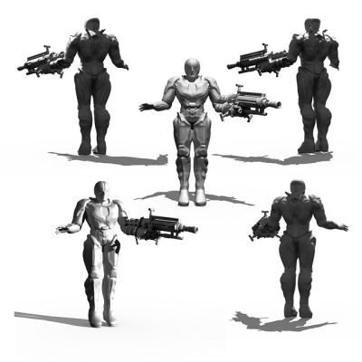 ^ a standard depiction of a selected group of cyborgs raving
