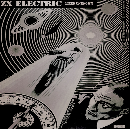 If only the universe were actually a 1950s science fiction thrill ride of somewhat surreal, deco film poster-y nonsense like the album art for ZX ELECTRIC's Fixed Unknown, all just floating above our heads... we would all never sleep again for the terror that the whole thing could at any moment collapse in on itself in a bedazzling array of Busby Berkely numbers, but imagine how much easier it would be to find meaning?