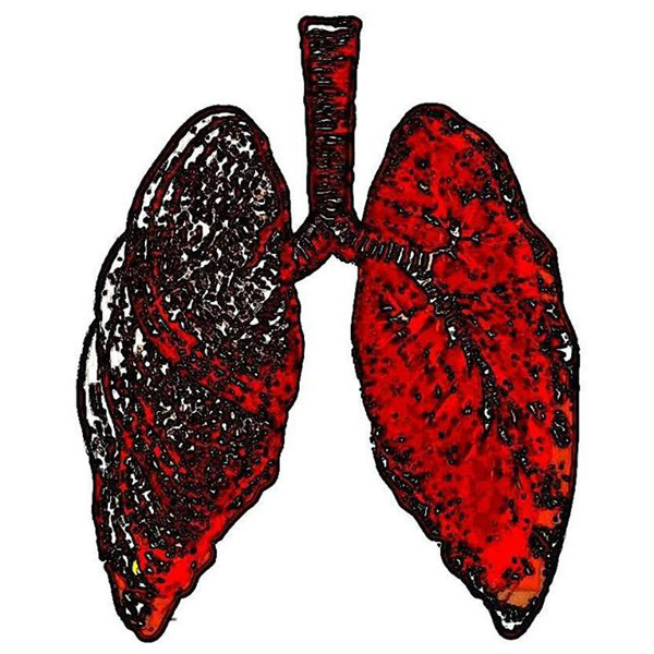 You may want to take a deep breath as you behold the album art for The New Fabian Society's Melt EP, because... there is a pair of lungs! *gasp*