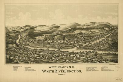 White River Junction in 1889