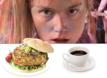 People should eat vegan burgers and drink coffee