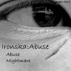There's an eye on the front cover of Abuse, by Ironska, but don't worry, it's not watching us.