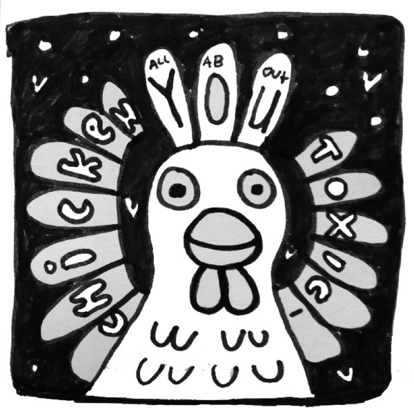 There's a magical chicken on the front of All About You, by Toxic Chicken, and it's face seems to be smiling, even though beaks have trouble smiling. Smiling, perhaps, because of how great the music we're about to hear is, and happy we're here to listen to it!