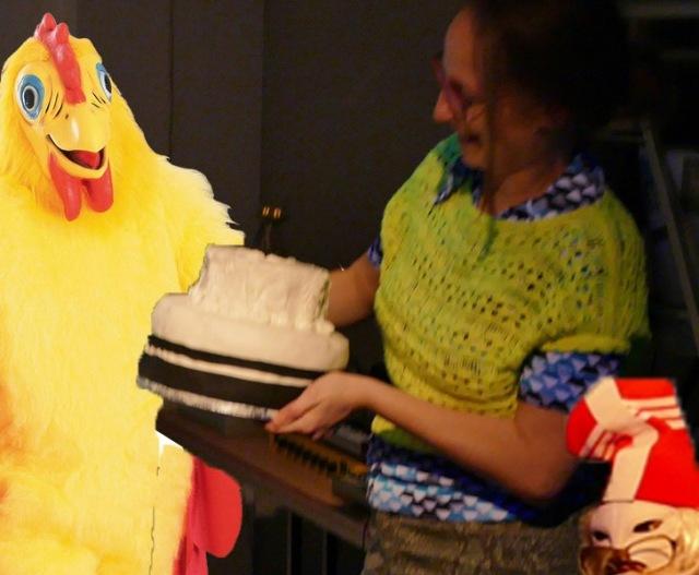 Linda and the cat cake